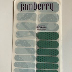 Jamberry Nail Wrap- Icy Teal Polka